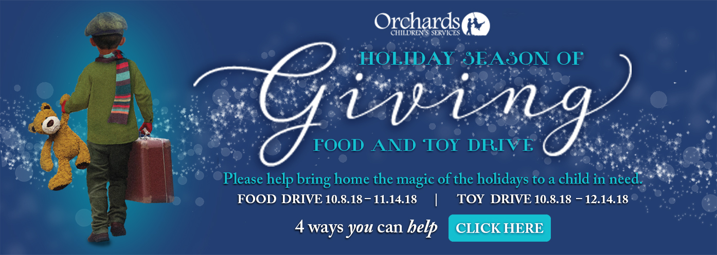 Thank you for supporting Orchards Holiday Drives…We Thank You…Our children and families Thank You!""